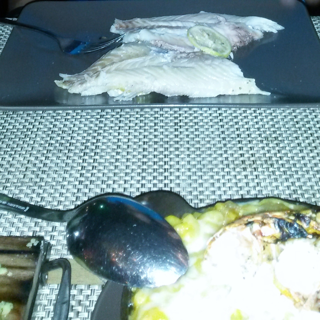 Whole fish prepared at the table