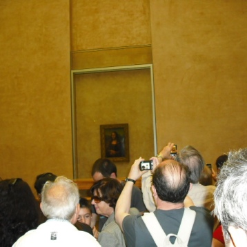 Ahhh the Mona Lisa, The Louvre