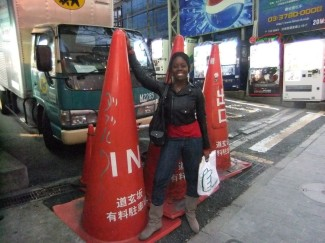These big a$$ cones on the streets of Tokyo!