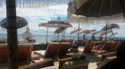 Beach side lounging