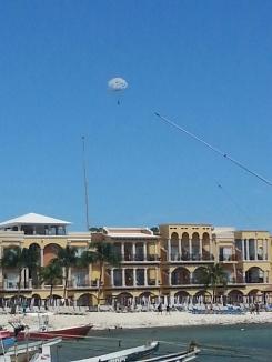 Me i the distance parasailing
