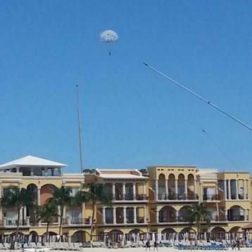 Me i the distance parasailing