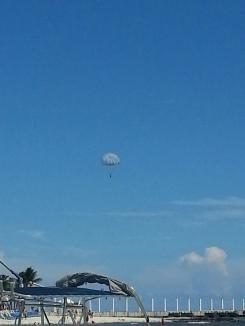That's me....parasailing