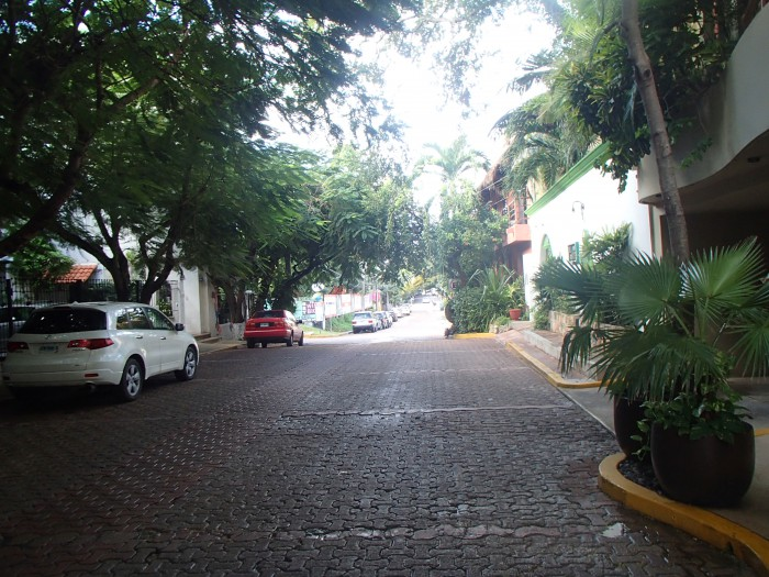 The street outside Maya Villa