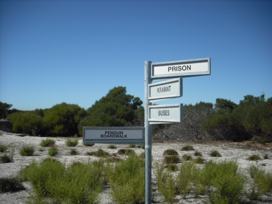 Sign on Robben Island, Capetown