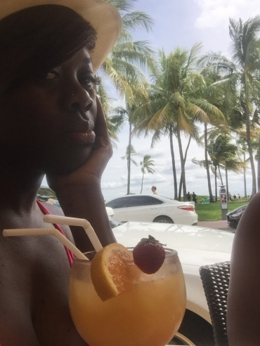Brunch on South Beach with my screwdriver!
