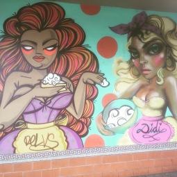 Street art by @Delvs and @Didirok on Calle Ocho in Little Havana