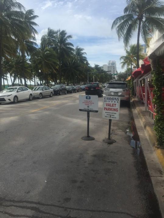 Brunch near the Colony Hotel on South Beach, Miami