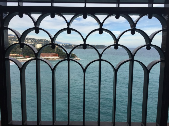 View from the balcony in Monaco
