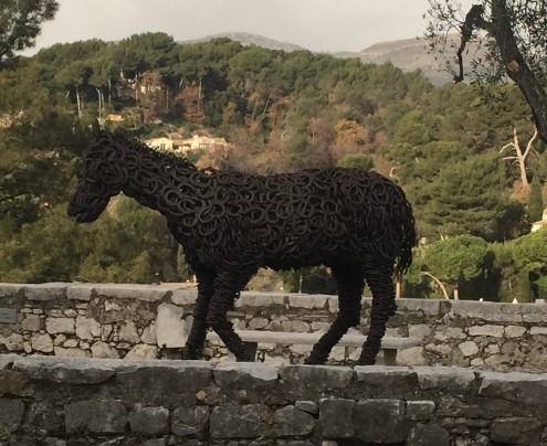 Horseshoe-horse in Saint-Paul de Vence, French Riviera, France
