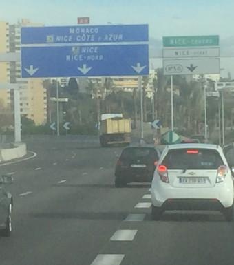Highways and byways in Cote dAzur